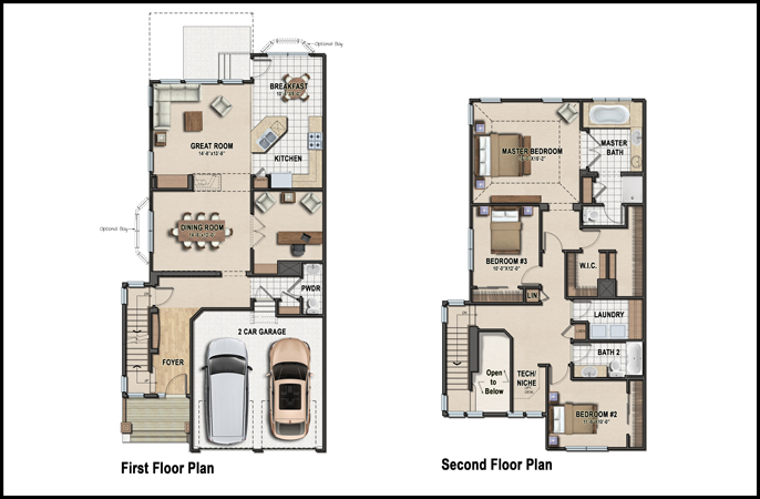 Color 2d graphics floor plans for Sample house floor plan drawings