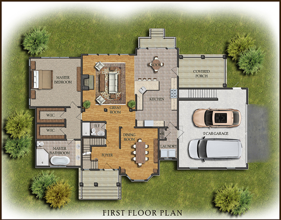 ... Example Of Color House Floor Plan ...