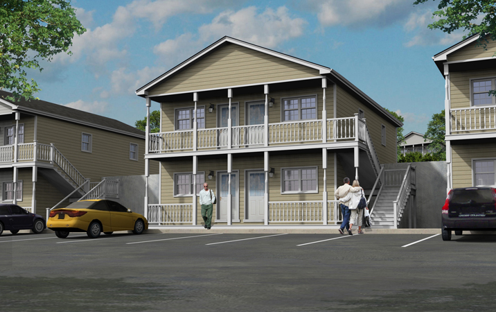 ... 3D Design Of Multifamily House