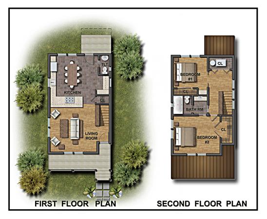 Color 2D Graphics | Floor Plans